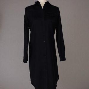 Lands' End Navy Wool Shirt Dress Size 4